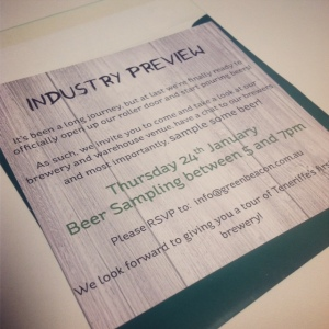 Industry launch night invite