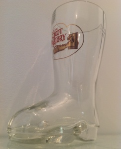 The Boot Factory 250ml beer glass