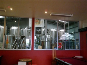The brewing set-up...