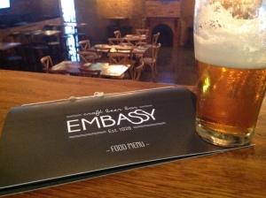 Embassy Craft Beer Bar Menu