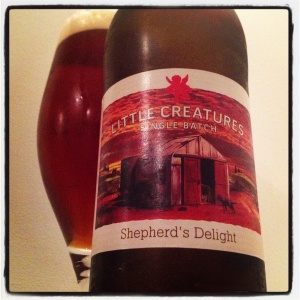 Little Creatures Single Batch - Shepherd's Delight. A 6.4% Red IPA.