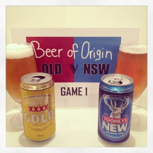 Beer of Origin Game 1