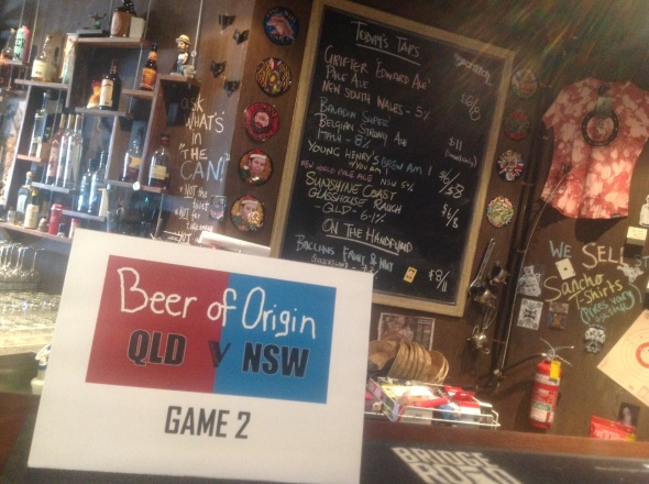 Beer of Origin Game 2 at The Scratch