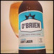 O'Brien gluten free Light Lager