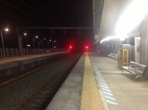 Beerburrum station by night. A desolate and lonely place.