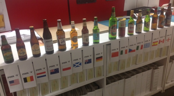 16 beers from 16 countries. Yes, some are bad...