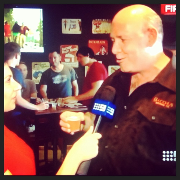 A still from the Channel Nine news story featuring Ross Kenrick.