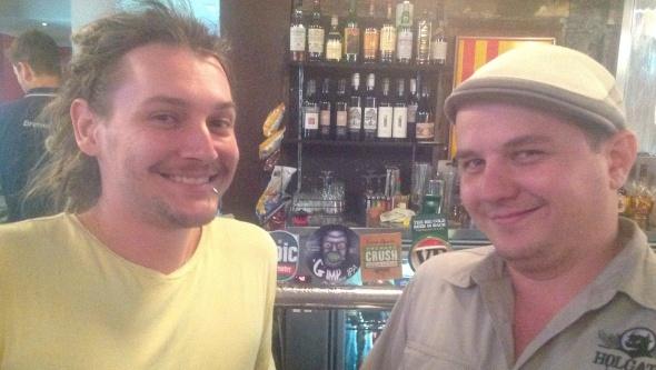Gimp brewers Sim and Dan