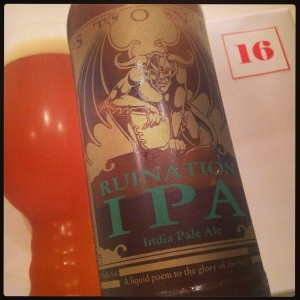16th December - Ruination Double IPA (8.2%) by Stone Brewing (US)