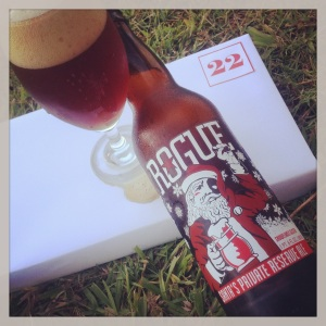 Day 22 - Santa's Private Reserve Ale (6.0%) by Rogue Ales (US)