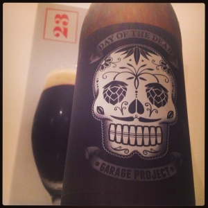 23rd December - Day of the Dead black lager (6.0%) by Garage Project (NZ)