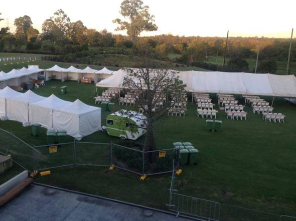 Eatons Hill Hotel Beerfest - Before (pic courtesy of Eatons Hill Hotel)