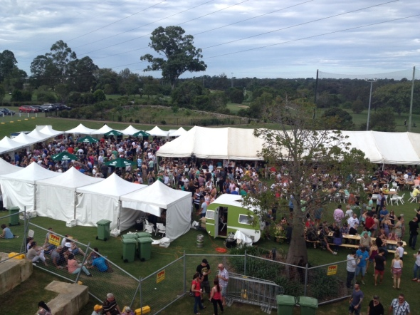 Eatons Hill Hotel Beerfest - In full swing (pic courtesy of Kim Thompson)