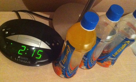 2.15am with provisions at the ready