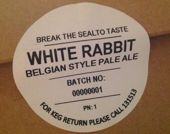 White rabbit belgian